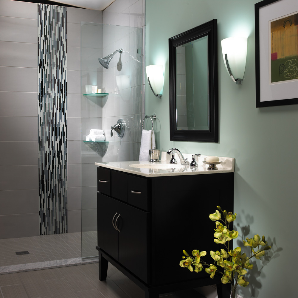 transitional bathroom renovation | speakman company